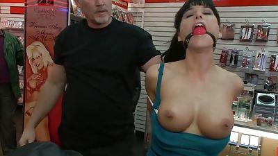 Nude women in thongs fucked